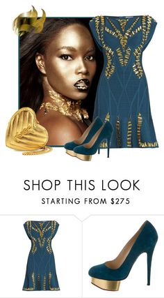"""""""Classy Chic 1541"""" by tes-gray ❤ liked on Polyvore featuring Hervé Léger, Charlotte Olympia and Yves Saint Laurent"""