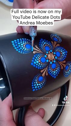 Abstract Painting Techniques, Dot Art Painting, Mandala Painting, Painting Patterns, Stone Painting, Mandala Dots, Flower Mandala, Painted Mugs, Painted Rocks