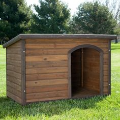 Boomer & George Log Cabin Dog House - http://www.thepuppy.org/boomer-george-log-cabin-dog-house/