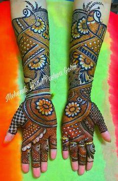 Peacock Mehndi Designs, Khafif Mehndi Design, Indian Henna Designs, Full Hand Mehndi Designs, Mehndi Designs 2018, Dulhan Mehndi Designs, Mehndi Designs For Fingers, Mehndi Patterns, Wedding Mehndi Designs