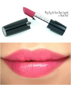 "Mary Kay Gel Semi-Shine Lipstick in ""Apple Berry"": Celebrate National Lipstick Day with some gorgeous new colors! Lipstick Dupes, Lipstick Swatches, Pink Eyeshadow, Pink Lipsticks, Mary Kay Lip Gloss, Mary Kay Lipstick, Mary Kay Makeup, Spa Facial, Mary Kay Reviews"