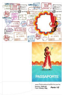 Uau! Veja o que temos para Molde passaporte Elena de Avalor