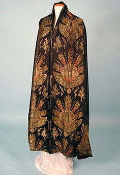 Egyptian Revival Lame Evening Wrap, 1920s