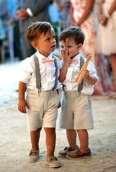 Someone will wear this at my wedding. Hopefully I have a nephew by my wedding day who can dress like this and be my ring bearer! Perfect Wedding, Dream Wedding, Wedding Summer, Barbados Wedding, Trendy Wedding, Elegant Wedding, Casual Wedding, Hawaiin Wedding, Khaki Wedding