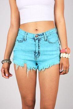 Tinted High Waist Shorts