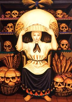 Optical Illusion Skull Art - Collect images like these for a fun little hobby. Like this one, Skulls, by artist Octavio Ocampo. Look closely and you'll see a bakery worker, but squint your eyes and you'll see a skull. Art And Illustration, Art Illustrations, Image Illusion, Illusion Art, Illusion Kunst, Art Amour, Ouvrages D'art, Mexican Art, Memento Mori