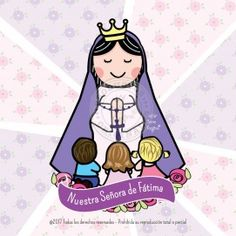 Nuestra Señora de Fátima I Love You Mother, Mother Mary, Mama Mary, Art Thou, Blessed Virgin Mary, Catholic Saints, Silhouette Projects, Holy Mary, God Is Good