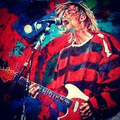 Cool painting of Kurt Cobain Kurt Cobain Art, My Generation, Music Icon, Cool Paintings, Nirvana, Cool Art, Manga, Cool Stuff, Sleeve