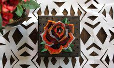 Rose / old school / scatola con mosaico di Musemosaicojewels
