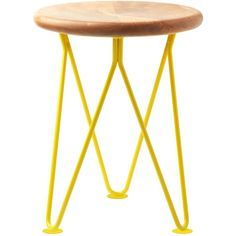 Toast Kara Stool ($170) ❤ liked on Polyvore featuring home, furniture, stools, home decor, lemon, colored furniture, handmade furniture, hand made furniture, handcrafted furniture and colored stools