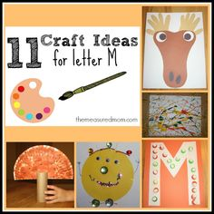 Letter M Crafts for Preschoolers - The Measured Mom