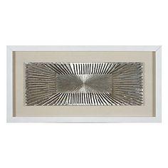 Silver Flare Dimensional Art / Z Gallerie / 63 x 31.5 / $369.95