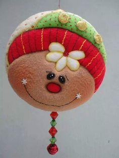 Powered by APG vNext Trial - Todos los Foros Christmas Ornament Crafts, Felt Ornaments, Christmas Projects, Holiday Crafts, Christmas Holidays, Gingerbread Crafts, Christmas Gingerbread, Felt Decorations, Christmas Tree Decorations