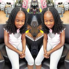 Creating a beautiful box braids hairstyle add fun and attraction. But the further advancement with cuff beads or buns makes the hairstyle simply eye-catching. The same idea is used here to beautify the braid hairstyle of the little kid into something trending and special, just for you.