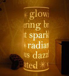 lovely laser cut lamps by Hannah Nunn on etsy