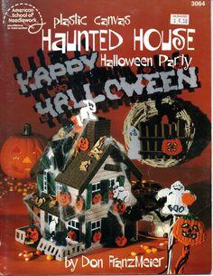 Plastic+Canvas+Haunted+House+Halloween+Party+Pattern+American+School+of+Needlework+3064