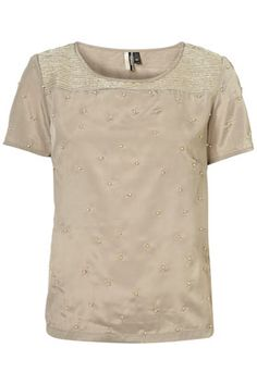 Short Sleeve Lurex Bead Tee