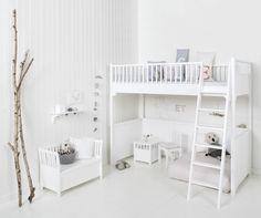 Oliver Furniture Skandinavisches Hochbett 'Seaside' weiß 90x200cm bei Fantasyroom online kaufen
