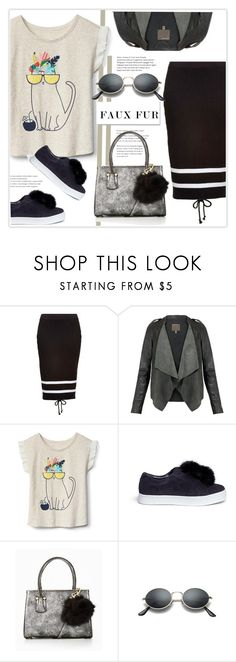 """Wow Factor: Faux Fur"" by zemnaya ❤ liked on Polyvore featuring Puma, Sam Edelman, skirt and fauxfur"