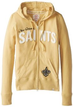 NFL New Orleans Saints Women's Pep Rally Full Zip Hoodie  https://allstarsportsfan.com/product/nfl-new-orleans-saints-womens-pep-rally-full-zip-hoodie/  Made from 95% cotton and 5% lycra Features double zipper pulls Hand finished two layer applique