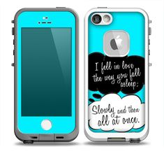 The Okay Speech Bubbles V5 LOVE Skin for the iPhone 5-5s frē LifeProof Case