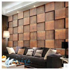 paredes de madeira na sala blocos em 3D