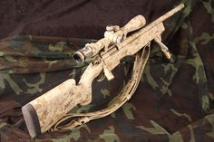 Remington 700 rifle camo tan custom