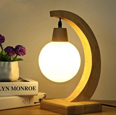 Modern simple bedroom study decorative wooden table lamps Nordic art books Creative glass lamp shade tabletop - Art of Epoxy Wooden Table Lamps, Table Lamps For Bedroom, Wood Lamps, Bedroom Lighting, Light Bedroom, Ceramic Table, Deco Luminaire, Contemporary Table Lamps, Modern Table