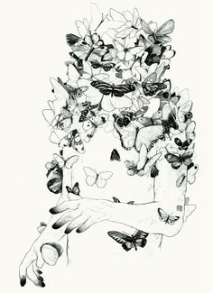 RECENT ILLUSTRATIONAL WORK by Simon Prades, via Behance   I really like this work because how he added   butterfly's on his work. Also for me the butterfly has meaning to it, the butterfly represents something beautiful, I would like to complete something similar on my pattern. I plan to use floral designs however I feel this still links to his work as the theme is nature based