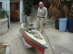 This Remote Control Battle Ship Is All Steel, Has Guns That Fire Real Ammunition, And Was Built In The 1930s