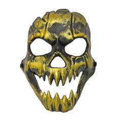 This scary gold colour ghoul Halloween mask is sure to scare someone when you wear it to your next Halloween party. Scary Halloween Masks, Scary Mask, Halloween Party, Gold Colour, Color, Skull, Scary Things, Colour, Halloween Parties