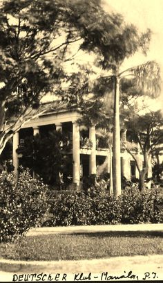 1922 German Club in Manila (ctto) Philippine Architecture, Filipiniana, Pinoy, Vintage Pictures, Manila, Old Photos, Philippines, Past, Places To Visit
