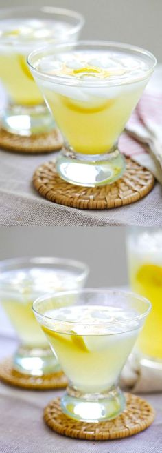 Lemon Drop - easy Lemon Drop martini cocktail recipe made with vodka, lemon juice, triple sec, and sugar. Just mix everything together and your party is on! Party Drinks, Cocktail Drinks, Fun Drinks, Healthy Drinks, Cocktail Recipes, Beverages, Vodka Cocktails, Drink Recipes, Lemon Vodka Drinks