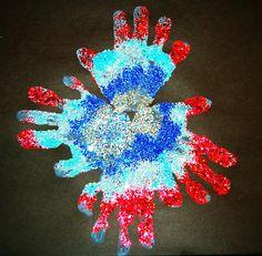 Handprint Fireworks kids craft