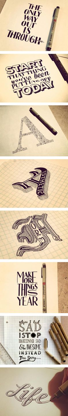 Hand lettering by Sean McCabe Plus
