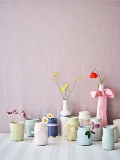 chalky pastel rooms | Flowers and pastels from Laura Ashley with styling by Emily Blunden ...
