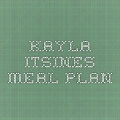 Kayla Itsines Meal Plan