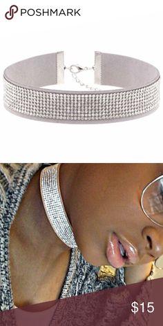Silver rhinestone choker necklace Gorgeous silver rhinestone choker necklace Jewelry Necklaces