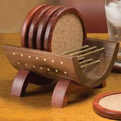 Coasters and Cradle Downloadable Woodworking Plan