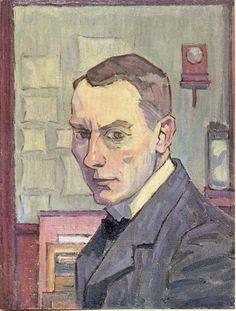 Robert Bevan. Self Portrait. 1913-14 National Portrait Gallery. Made when Bevan was aged 48-49.