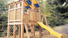 Un centre de jeu en cèdre pour enfant   Rénovation-Bricolage
