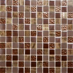 Marble & Glass Chocolate Tiles Tiles Natural Stone & Glass Mosaic Mosaic Tiles 300x300x8mm from Walls and Floors. Marble & Glass Chocolate Tiles | Walls and Floors - Sold Per Sheet