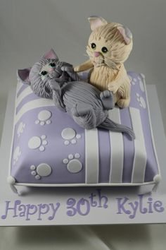 Kittens on a cushion - Cake by Kake Krumbs