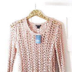 Lucky Brand Knit Dusty Rose Sweater Knitted Dusty Rose Sweater  * Brand: Lucky Brand * New with tags * Size Large * Open Knit Sweater * Color is a dusty rose/mauve  Closet Policies  ❌ No Trades  ❌ No ️️  ❌ No Holds  Please make all offers through the offer button  Lucky Brand Sweaters Crew & Scoop Necks