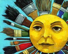 Sun Painting - Cbs Sunday Morning Sun Art by Linda Apple Sunday Morning Show, Morning Sun, Los Astros, Sol Sun, Sun Painting, Good Day Sunshine, Happy Sunshine, Hello Sunshine, Sun Designs