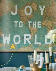 Simple holiday decor at http://www.apartmenttherapy.com/diy-modern-holi-160568