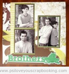 Brothers Scrapbook Page Layout