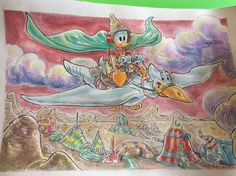 """Donald Duck - """"ArzDuck"""" - Pagina sciolta - Copia unica - - Catawiki Illustrations And Posters, Disney, Painting, Illustrations Posters, Painting Art, Paintings, Painted Canvas, Drawings, Disney Art"""