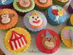 Cupcakes Circo, sin gluten.