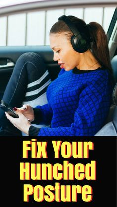 5 simple exercises to fix your hunched posture! Improve your posture today! Better Posture, Good Posture, Improve Posture, Posture Correction Exercises, Posture Exercises, Atkins, Cardio, Weight Training For Beginners, Perfect Posture